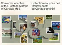 Catalogue souvenir des timbres canadiens de 1985...